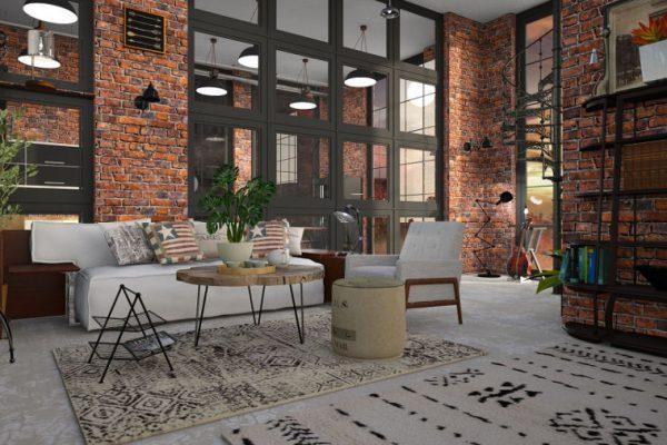 Mieszkanie w stylu industrialnym - surowo ale wygodnie